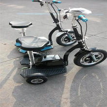 12AH, 48V 500W brushless motor three wheel electric scooter, 3 wheel electric scooter