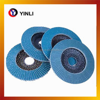 low price cutting tools 100mm zinc oxide flap disc polishing stainless steel