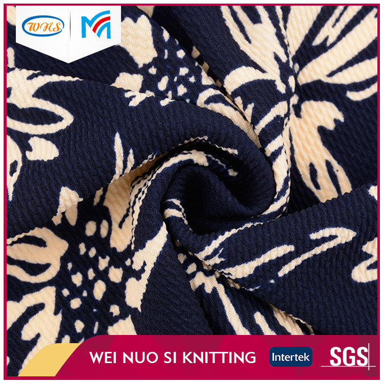 Customized Digital printed Cheap viscose knit fabric