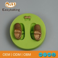 High Quality Best Sale Silicone Fondant Mini Bow Cake Decorating Baby Shoes Mould