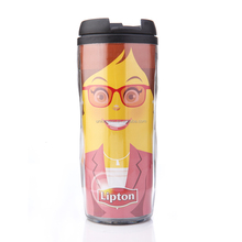 Hot selling plastic tumbler cofffee mug with colored paper insert