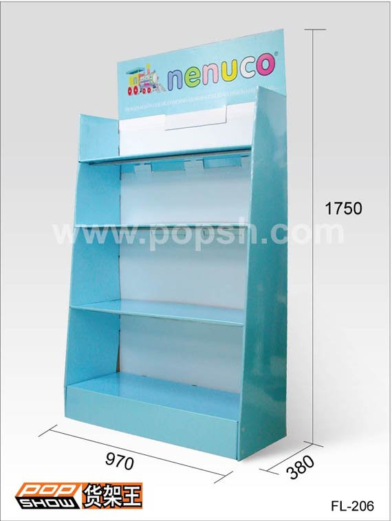 FL-206 Cardboard display,sales stand, promotion rack,folder holder