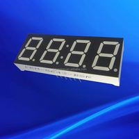 Red 0.5641inch four 4 quad digit led display board circuit