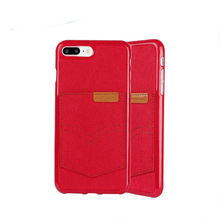 Factory price card holder leather back case cover for iphone5 leather