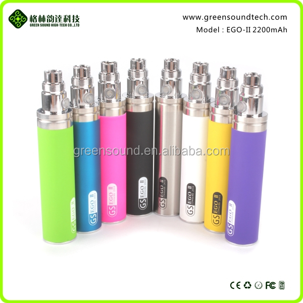 2016 new trend! vaporizer pen battery Greensound eGo II 2200mah battery patent product holds for one week