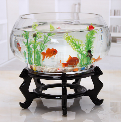 Hot-selling glass <strong>fish</strong> bowls & <strong>fish</strong> tank stand & glass aquarium with wooden base for home deco