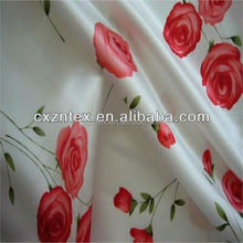floral printed satin fabric/good quality satin fabric,100%polyester printed satin