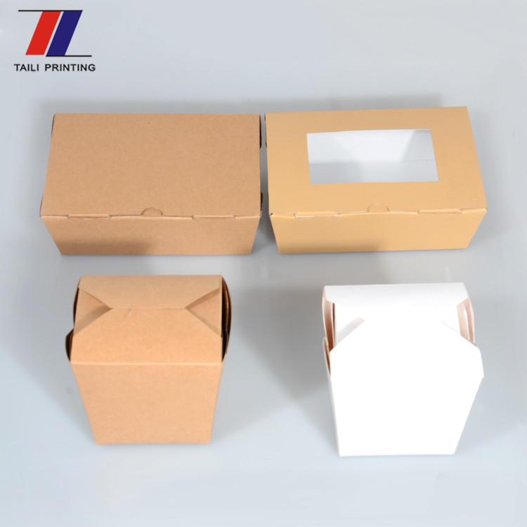 Kraft corrugated cardboard food box disposable take-out paper food box jakarta