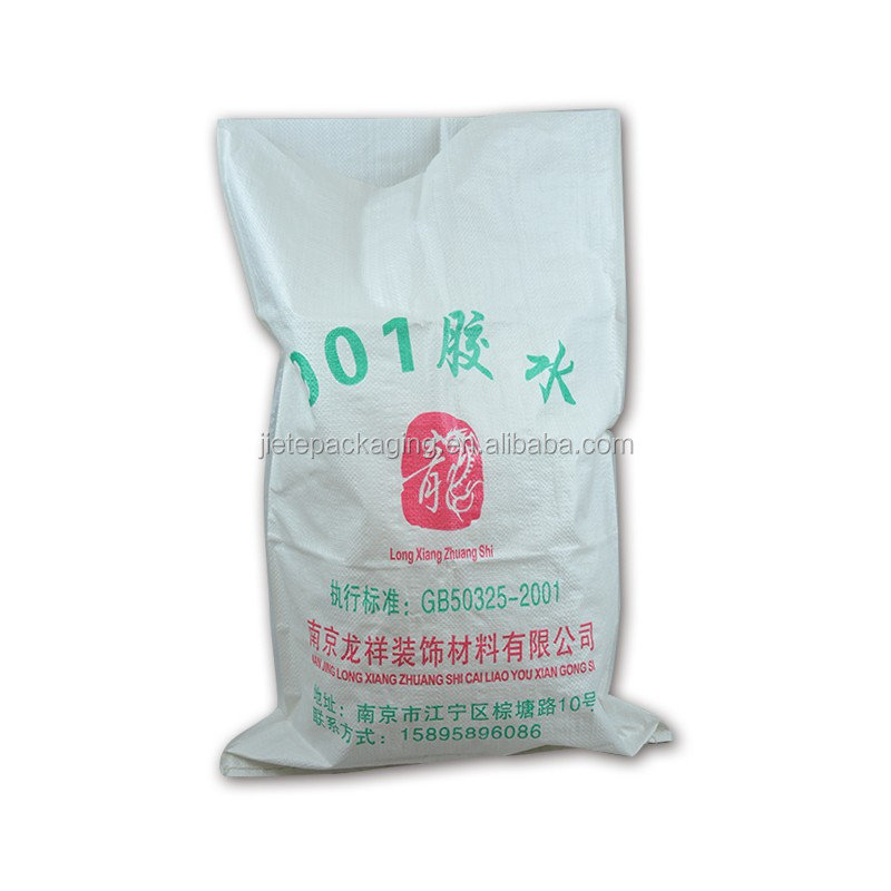 new design durable polypropylene plastic bag for cement, putty powder, mortar, glue packaging 25kg