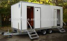 Portable toilet with trailer, Portable Toilet, Movable trailer Toilet
