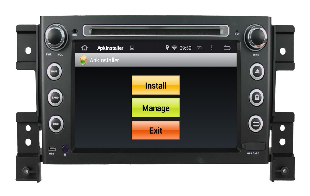 WITSON ANDROID 4.4 DOUBLE DIN CAR DVD GPS FOR SUZUKI GRAND VITARA WITH A8 DUAL CORE CHIPSET DVR SUPPORT WIFI 3G APE