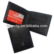 Men's large Capacity PU Leather Wallet coin purse with PVC window