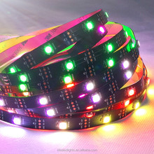 Programmable led digital 5V WS2812 30leds/m LED flexible strip light in dream color