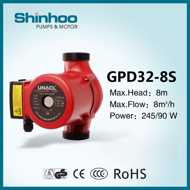 (GPD32-8S) Shinhoo Hot Water Circulation Gear Pump