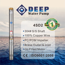 4SD2 series hot selling 2 inch 3 inch diameter water submersible deep well pumps