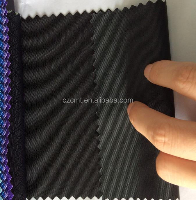 polyester oxford fabric wave pattern fabric with PVC/PU coated