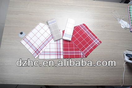 hight quality witte and red cheap kitchen towel for household