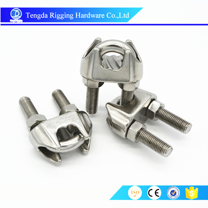 Stainless Steel guy wire rope clamp stainless
