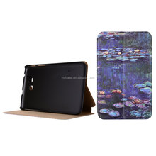 customized PU Leather Smart Filp Cover Case for Samsung tablet for samsung GALAXY Tab 3 Lite T110 flip case