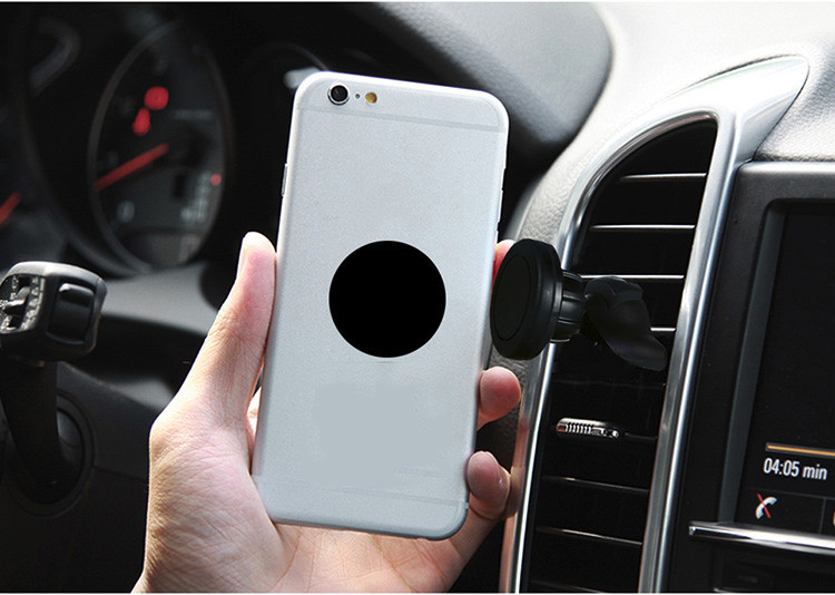 2 In 1 360 Rotating Magnetic Car Air Vent Outlet & CD Slot Mount Holder For Cell Phone