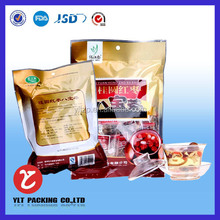 stand up bag microwave bag for meat with window &zipper bag