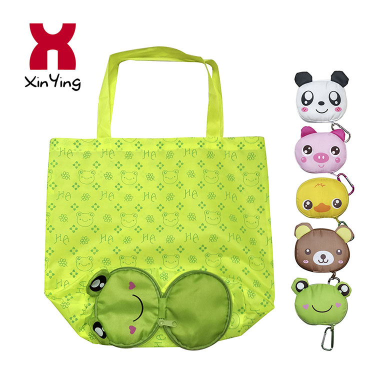 OEM/ODM High Quality Animal Folding Shopping Bag With Carabiner