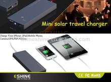 2600mAh Mobile phones with Micro USB charger solar power bank charger for Blackberry.Moto. HTC .etc.