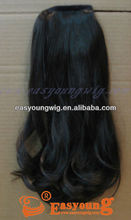 Long synthetic curly hair extension, wrap around ponytail clip in hairpiece