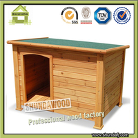 SDD07 Flat Waterproof Cheap Outdoor Wooden Pet House for Cats Dog
