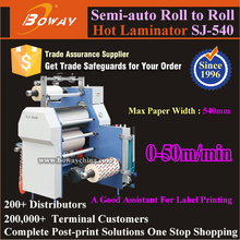 540mm Paper Width Roll to Roll Film Label Printing Assistant Semi-auto Heating Laminator