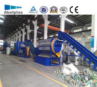 plastic pet bottle crushing/washing/recycling machine