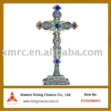 Small Metal Cross Standing for decor Crafts
