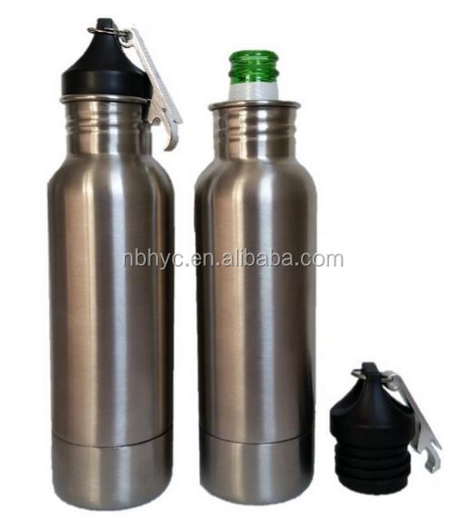 Stainless Steel Bottle cover, stainless steel Keeps Beer Ice Cold keeper, Stainless Steel bottle Insulator with Opener
