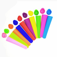 Premium Wholesale Frozen Silicone Ice Popsicle Mold,DIY Fruit Ice Pop Maker with Lid for Kids