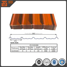 type corrugated color roof,color corrugated sheet,color corrugated roof sheets