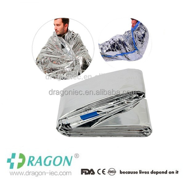 DW First aid used aluminium light weight simpal useful emergency blanket