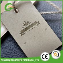Custom factory directly high quality garments Hang Tags