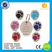 Promotional Cheap colorful with glitter custom metal tag
