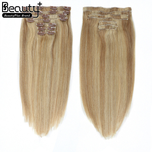 New coming Unprocessed 100% Human Hair 75--220g Remy Cheap Double Drawn 100% Human Hair Clip In Hair Extension