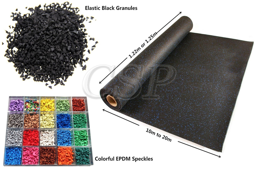 Charming Cheap Best Quality Sports Flooring Rubber Mats For Gym Rubber Roll Product