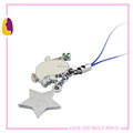 Popular different kind of star shape pendants metal mobile phone charm cell phone key chain