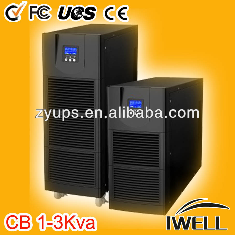 Computer ups price cheap online ups 0.8 power factor 1-3KVA hgh frequency single phase on-line ups