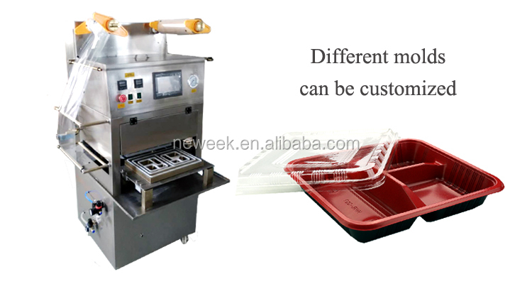 NEWEEK nitrogen flushing tray sauce cup box vacuum sealing machine