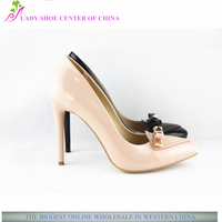 XG351 girls large size high heel ornaments pump shoes