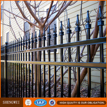 Cheap pretty galvanized steel pipe fence / Wrought iron fence panels for sale /Square tube iron fence
