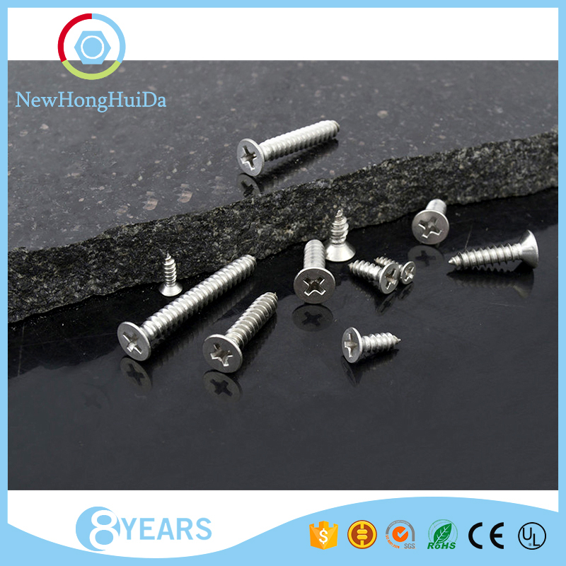 Hot sale flat head M3 crossed recessed tapping screw