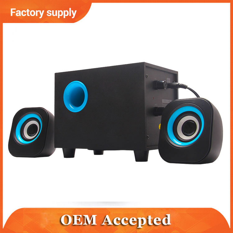 usb mini 2.1 multimedia active speaker system with amplifier