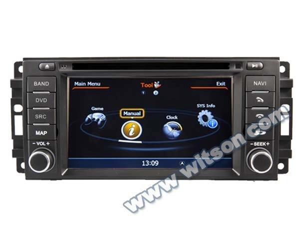 WITSON car dvd gps JEEP COMMANDER WITH A8 CHIPSET 1080P V-20DISC WIFI 3G INTERNET DVR SUPPORT