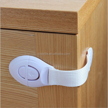 Children 's Multi Function Extension Cabinet Door Drawer Web Security Lock baby safety lock Baby anti-clip cloth belt