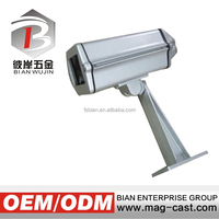 Outdoor CCTV camera housing and wall mount bracket